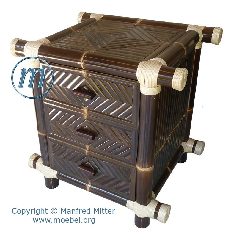 Schrank (Bambusschrank), Kommode, Nachttisch aus Bambus, Bambusmöbel