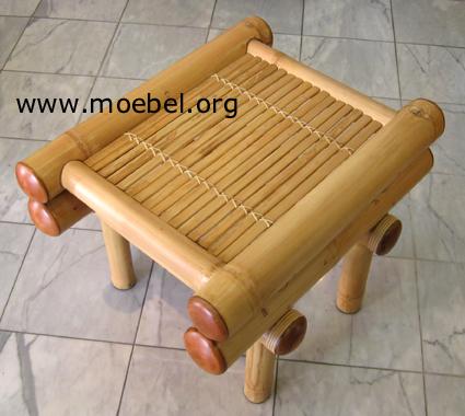 Beistelltisch bzw. Fussablage aus Bambus, Hocker DODO