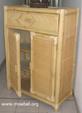 Bambuskommode mit 1 Breiten Lade und 2 Türen