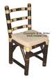 Stuhl bzw. Sessel SATU aus schwarzem Bambusrohr