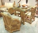 Tische - Esszimmertische aus Bambus und Glas. Bambusmöbel aus Asien