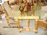 Bambustisch für Speisezimmer oder Wintergarten