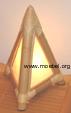 Bambuslampe für Nachtkästchen