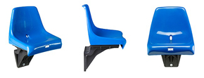 Bucket seat, stadium seat, seat shell on console