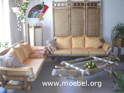 Bambussofa, Fauteuil Mod. Bali - Bambusmöbel